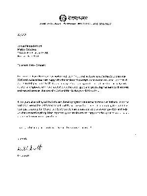 Baltimore Lock & Hardware Testimonial Letter